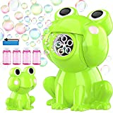 KingsDragon Bubble Machine for Toddlers, Automatic Frog Bubble Toys Blower Maker with Solutions for Kids Outdoor Water Toy for Boys Girls Birthday Gift Present