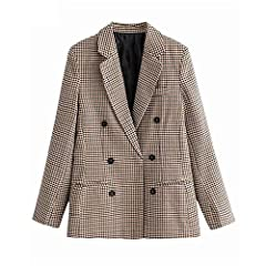 The item is Asian size ,it is smaller than US size,please refer to the size chart in item detail images,not amazon size chart. Item Type:Blazers Style:Office Lady Sleeve Length(cm):Full Material:Polyester,Cotton