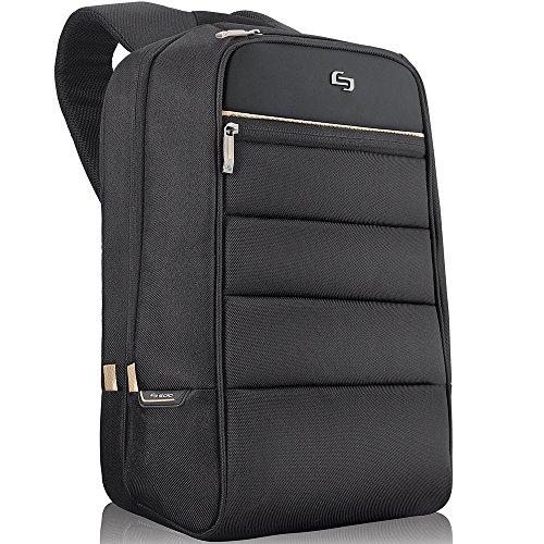 Mochila para laptop Solo Transit de 15,6 polegadas, Preto, 16.5 x 12 x 5.5