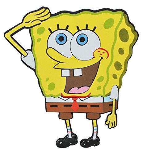 alles-meine.de GmbH 3-D Wandtattoo / Wandbild / Türschild - XL Spongebob Schwammkopf aus Moosgummi - Robert Fisch Wandsticker Wanddeko für Kinderzimmer Kind Kinder Deko Bilder