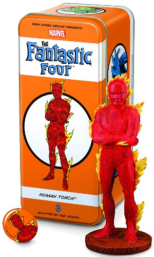Dark Horse Deluxe Classic Marvel Characters: The Fantastic Four #3: Human Torch Statue image
