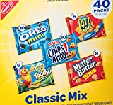 Nabisco Fun Shapes Cookie & Cracker Mix, Variety Pack with Teddy Grahams, Chips Ahoy! Oreos, Nutter Butter and Ritz Crackers 40 Count Individual Snack Bags (40 Count)