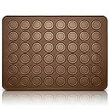 Belmalia Stampi in Silicone Macarons per Perfetti Macaron | Tappetino Silicone Antiaderente | Bruno