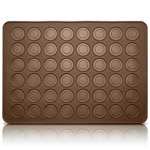 Belmalia Siliconen Bakmat voor perfecte Macarons | Bakvorm Macaron | Anti-aanbaklaag | Bruin