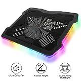 """MoKo RGB Laptop Cooler, 10""""-17"""" Laptop Cooling Pad Silent Gaming Notebook Radiator"""