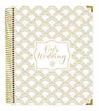 "💗 9"" x 11"" hard cover Wedding Planner with gold foil, gold reinforced metal corners and gold metal lay flat binding 💗 Tabbed sections including ""Our Visions,"" ""The Basics,"" ""Guest Planning,"" ""Vendor Planning,"" ""Monthly Planning,"" ""The Big Day,"" and ""..."