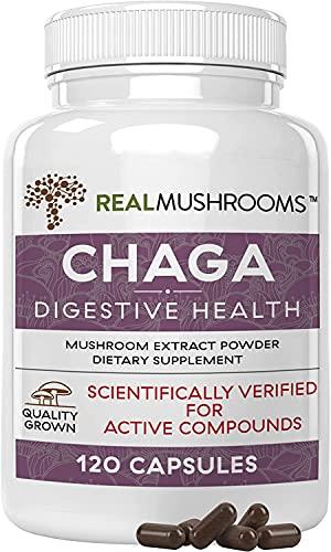Real Mushrooms Chaga Capsules for Digestive Health...