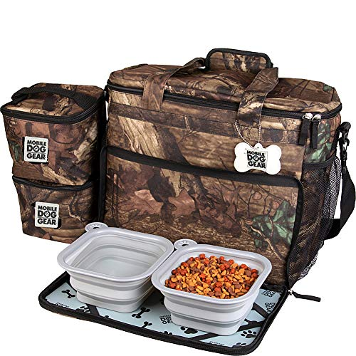 Overland Dog Gear, Week Away Dog Travel Bag for Medium and Large Dogs, Camo