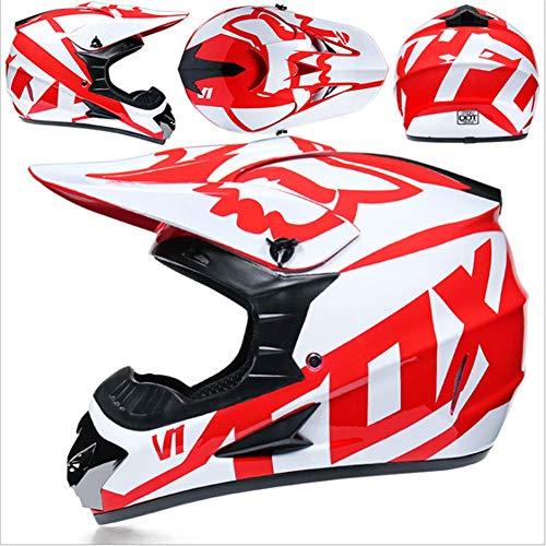 Adult Off Road casco con guanti maschera occhiali creativi personalit/à locomotiva mountain bike casco guanti maschera occhiali SSIC-Motocross casco