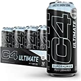 C4 Ultimate Sugar Free Energy Drink 16oz (Pack of 12) | Arctic Snow Cone | Pre Workout Performance Drink with No Artificial Colors or Dyes