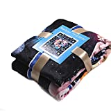 Nelton [60 x 80 inches] Plush Throw Fleece Blanket for BTS, Lightweight Soft Plush Fluffy Warm Cozy – Perfect for Bed, Sofa