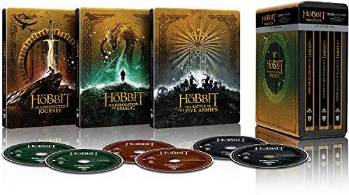 Trilogía El Hobbit versión extendida - Steelbook 4k UHD [Blu-ray]