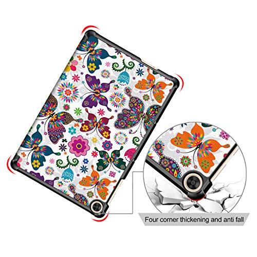 XITODA Hülle Kompatibel mit Huawei MatePad T10 AGR-L09 AGR-W09 9.7''/MatePad T10S AGS3-L09 AGS3-W09 10.1'',PU Leder Stand Schutzhülle für Huawei MatePad T 10/ T 10S Case Cover,Schmetterling