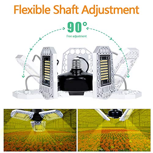 YDBET LED Plant Grow Light, Phyto Lamp 4000K Full Sepctrum Grow Lights for Indoor Plants Tent Seed Flowers Herbs Greenhouse,E27,100W 216leds