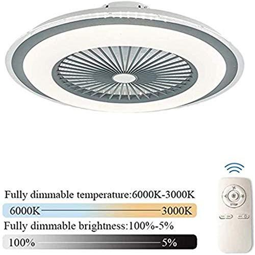 LLDS Plafondventilator Met Creative Verborgen Lamp LED Ceiling Fan Remote Control Dimbare Ultra Quiet Fan Can Timing Chandelier Room Children Fan Lamp,Gray