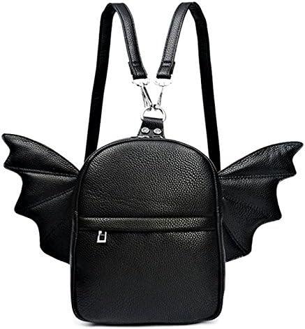 Women Fashion Mini Backpack Detachable Bat Angel Wing Shoulder Bag Black product image