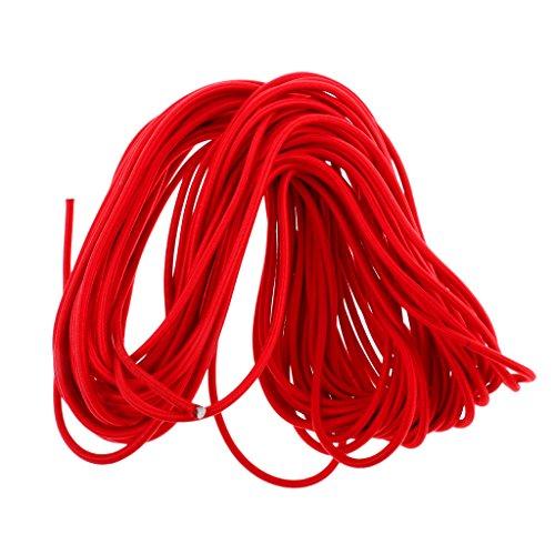 Toygogo 6mm Rot Starke Elastische Bungee Seil Schock Cord Stretch String Binden Dachgepäckträger Zelt Kajak Boot Tasche Gepä DIY Handwerk UV Stabil - 50m