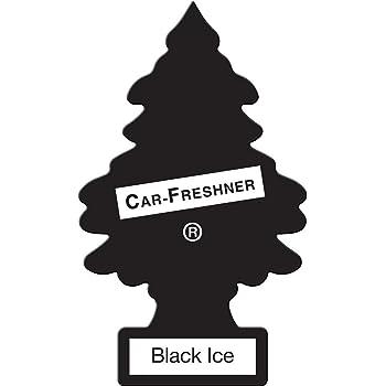Little Trees U3S-32055 Aromatizante Pino de 3 Pack Aroma Black Ice, 8, Negro Empaque de, 3 Empaque de
