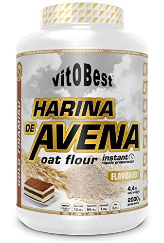 Harina de Avena Sabores Variados - Suplementos Alimentación y Suplementos Deportivos - Vitobest ((Tarta de Queso (Cheese Cake), 2 Kg)