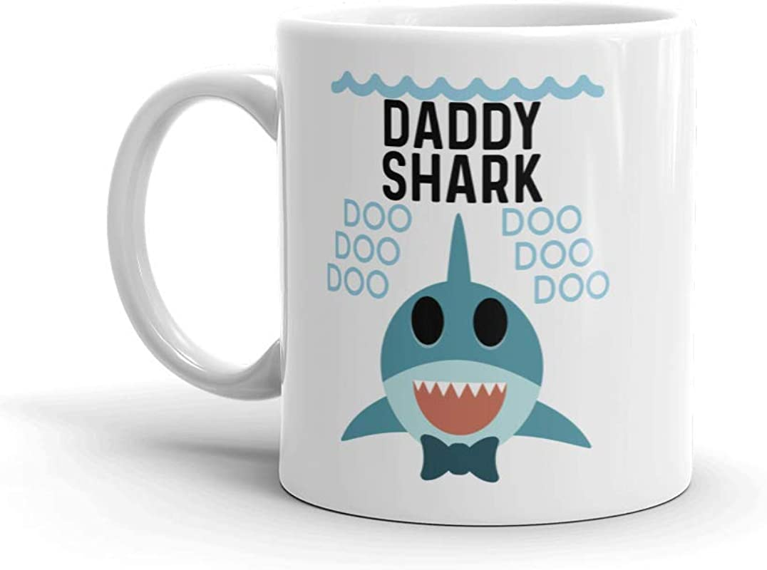 Shark Daddy Unique Ceramic Coffee Mug Cup 11 Oz Birthday Father S Day Christmas Gift For Dad Father Grandpa