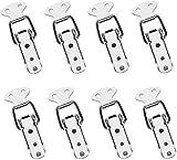 Voarge 8 Stück Spannverschluss Edelstahl Hebelverschluss Kappenschloss Kistenverschluss, Edelstahl Verschluss Haspe Eisenwaren Haspe für Koffer, Fall, Box und Brust