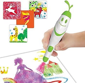 Gemgucar Kids Electric Airbrush Sprayer Watercolor Pens