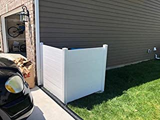 White Mac Outdoor Garbage Can Enclosures, Privacy Screen Concealer with 2 Panels, Patio Garden Screen Panels, All Seasons Space Divider,Rubbish Wrap, Air Conditioner Screen for Outside Units