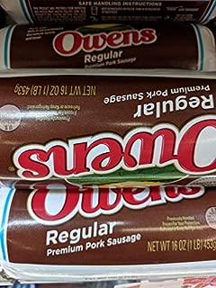 Owens Regular Pork Sausage 16 Oz (4 Pack)