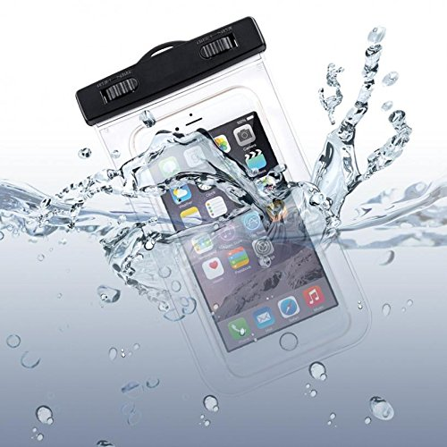 Premium Waterproof Case Transparent Bag Cover with Touch Screen for BLU R1 Plus - BLU S1 - BLU Vivo 5 - BLU Vivo 5R - Essential PH-1