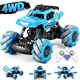 JDBABY Mini Remote Control Car for Boys - Double Sided Fast Off Road Stunt Mini RC Cars for Boys and Girls, RC Flip Car (Blue)