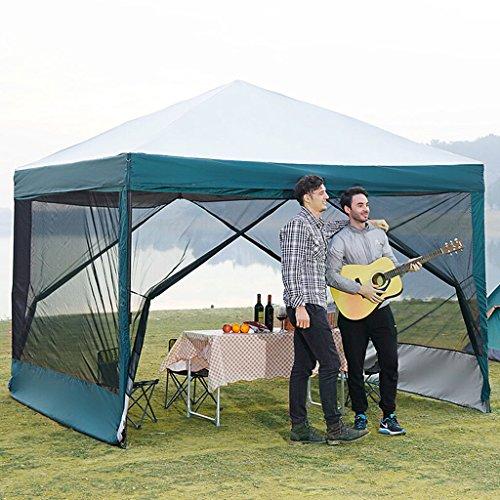MEI XU Auvent Tentes extérieures de parapluie à quatre pattes Tente auvent auvent grande tente 10-12 tentes vert foncé @