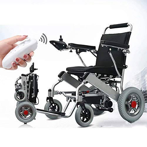 TWL LTD-Wheelchairs Electric Wheelchair, Intelligent Remote Control Wheelchair, Folding Light, Suitable for the Elderly and Disabled (12Ah Lithium Battery)