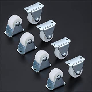 8 stks 1/1.25/1.5 inch meubelwielen platte auto vaste caster mute directionele wiel metalen silica materiaal DIY model ond...