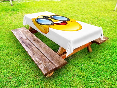 Sale!! OKSLO outdoor tablecloth, smiley with a telescope binoculars glasses watchi (97929-28993-5473...