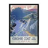 Nacnic Vintage Poster Yorkshire. Blätter für Interieur