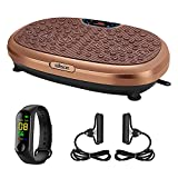 EILISON FitMax KM-818 3D XL Vibration Plate Exercise Machine - Whole Body Workout Vibration Fitness Platform w/Loop Bands - Home Training Equipment for Recovery, Wellness, Weight Loss (Jumbo Size)