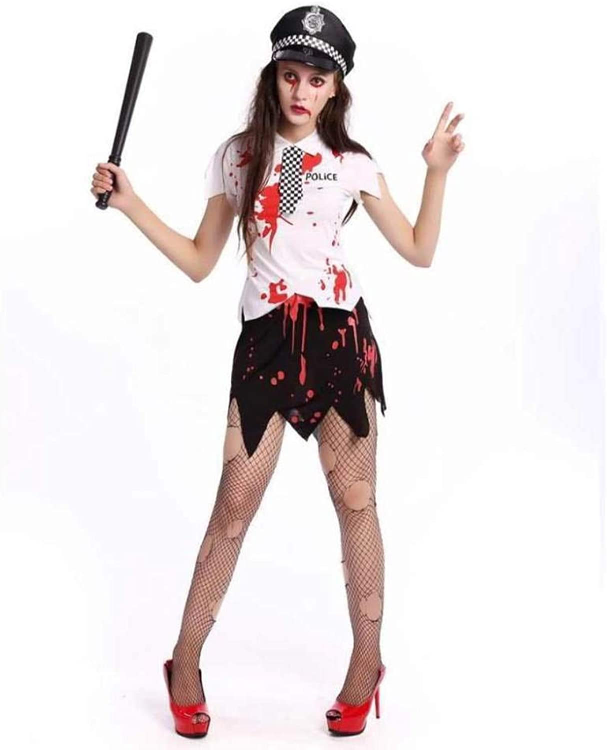 Outfit Stage Police Female Zombie White Vampire Halloween