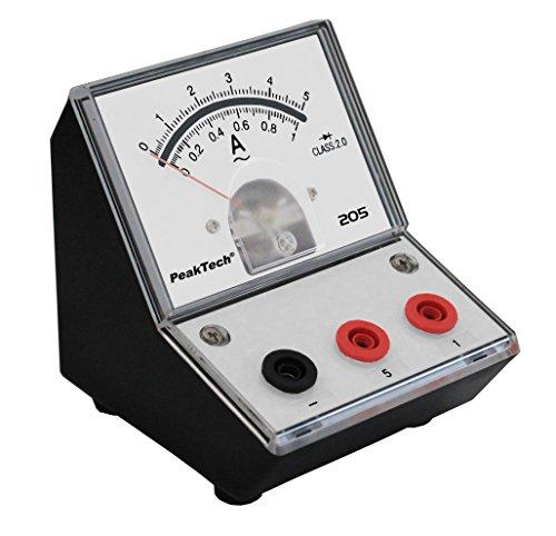 PeakTech P 205-09 Strommessgerät/Amperemeter Analog/Messgerät mit Spiegelskala 0 … 1A/ 5A AC