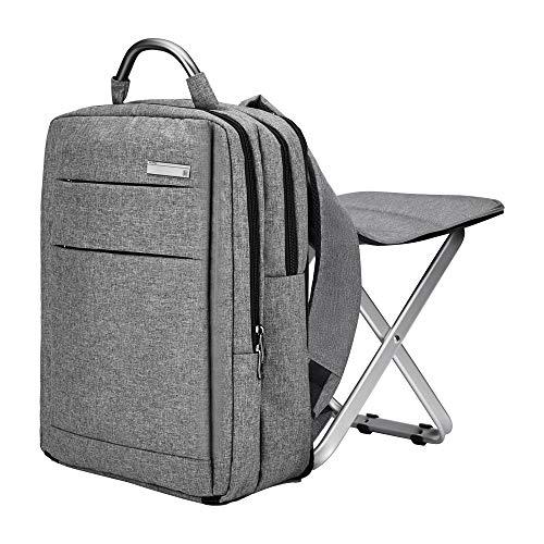 Rucksack Stuhl Angelrucksack - Multifunktions Rucksack Rucksack mit großer Kapazität und tragbarer Klappkühlstuhl - ideal für Camping Angeln Wandern Picknick