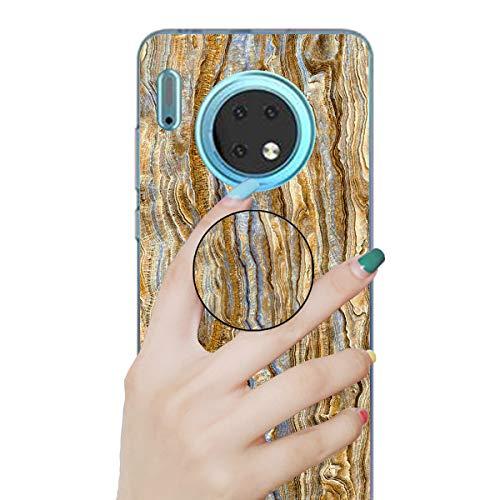 Nadoli Marmor Hülle für Huawei Mate 30 Pro,Prämie Glatt Flexibel Weich Bunt Marmor Muster Ultra Dünn Gummi Silikon Handyhülle Schutzhülle mit Ständer für Huawei Mate 30 Pro