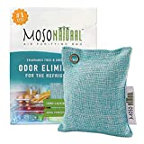 MOSO NATURAL Air Purifying Bag for The Refrigerator. Freezer and Fridge Odor Eliminator. More Powerful Than Baking Soda