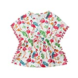KMBANGI Toddler Baby Girls Cotton Linen Beach Dress Swimsuit Cover-up with Pompom Tassel PonchoSummer Clothes