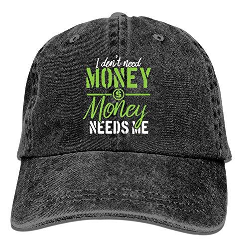 Mens Baseball Cap-I Don't Need Money Trucker Caps for Men, Adjustable Cool Cowboy Hat...