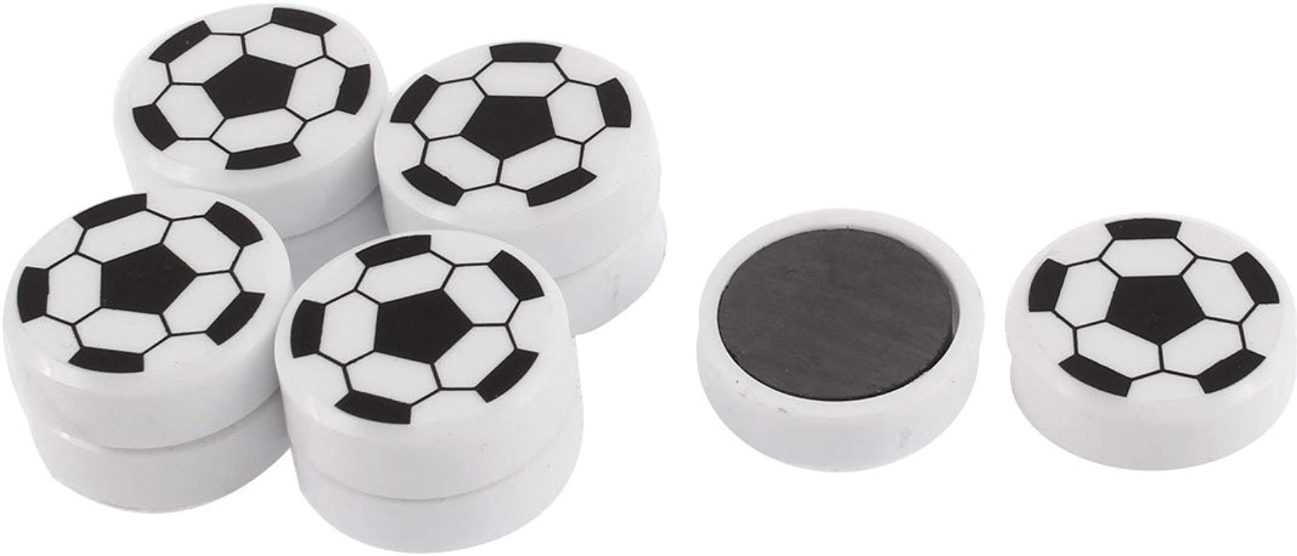 Uxcell Soccer Ball Pattern Round Refrigerator Sticker Fridge Magnet 10pcs