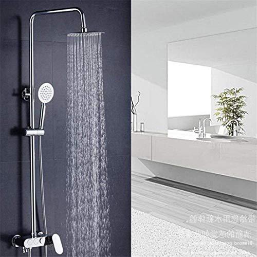 JUNYYANG Conjunto de ducha de llave en la pared oculto All-Cobre Three-Shower Ducha Faucet Top Spray Ducha Lluvia, Spray, Masaje, Burbuja, Ahorro de agua Presurizado (Color: -, Tamaño: -) Conjunto de