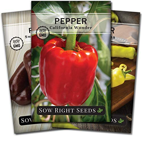 Sow Right Seeds - Sweet Bell Pepper Seed Collection for Planting - Packets of...