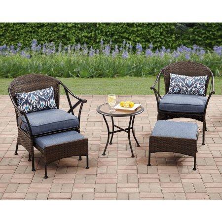 Mainstays! Skylar Glen 5pc Outdoor Leisure Set, Seats 2