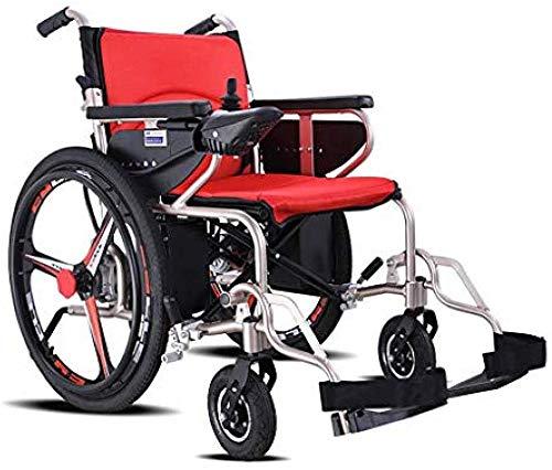 SISHUINIANHUA Der Leichtesten & Die meist Compact Power Stuhl Faltbare Leistung Compact Mobility Aid Rad Chai Elektro-Rollstühle Leichtklapp mit regulierbarem Anti-TIPP-Rad