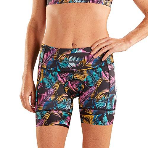 Zoot Damen Triathlon 6 Inch Hose Style Ali'I mit 2D Sitzpolster, Seitentaschen, LSF 50+ und Seamlink-Nähten Größe M