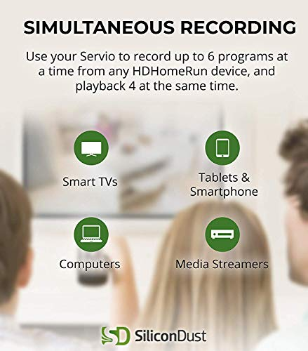 SiliconDust HDHomeRun Servio 2TB OTA DVR Records Up to 300 Hours of Liv   e TV - (HHDD-2TB)